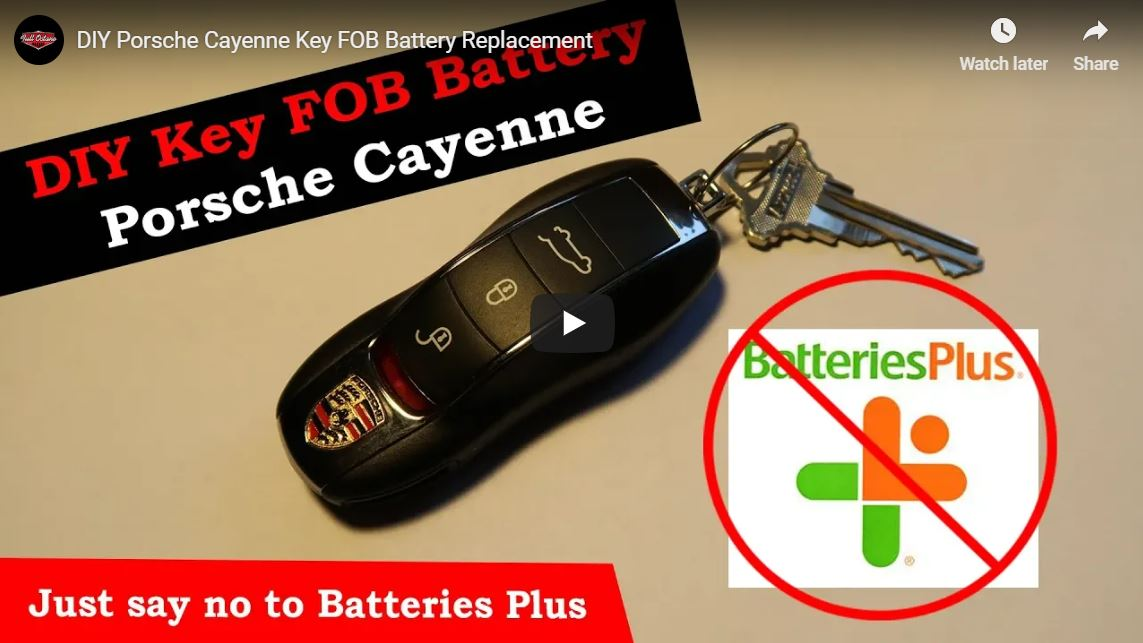 October 26 2018 Banner How To Porsche Cayenne Product Review A Key Fob Battery Cost
